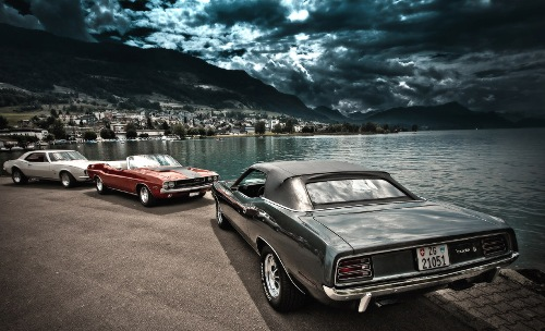 Two Muscle cars