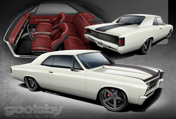 chevy chevelle protouring muscle car