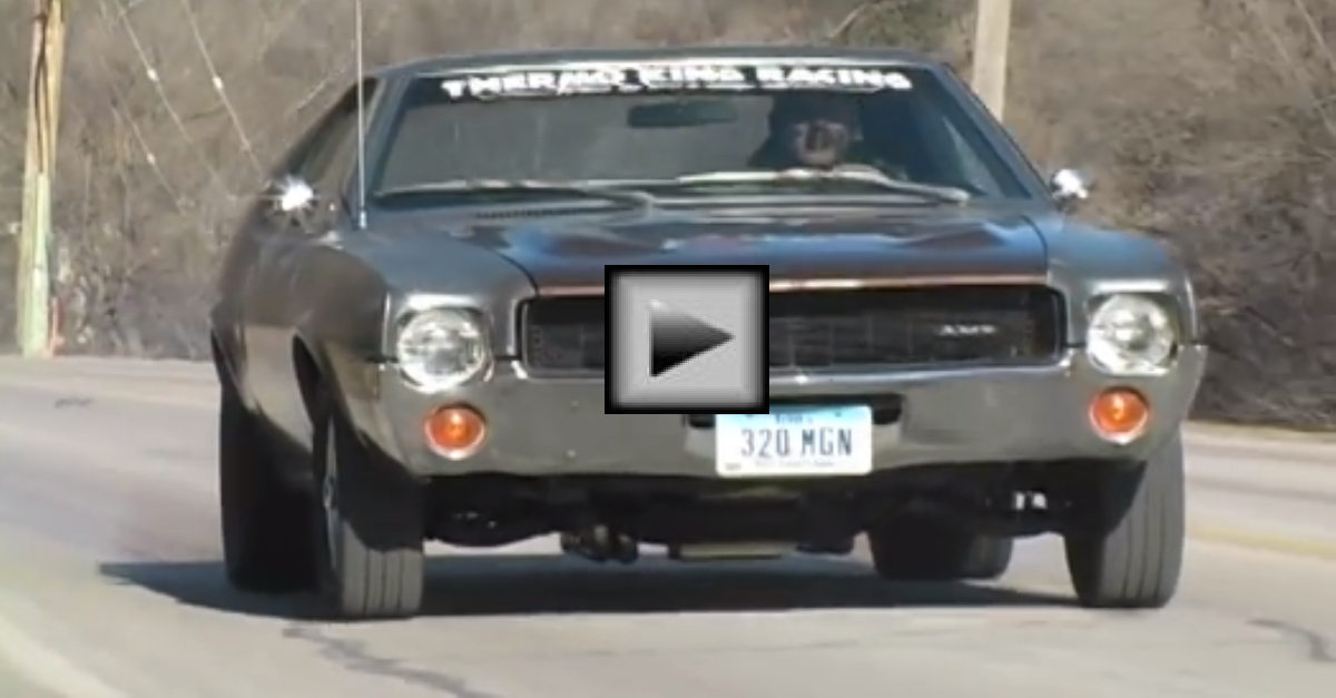 1969 AMC AMX burn mopar muscle car