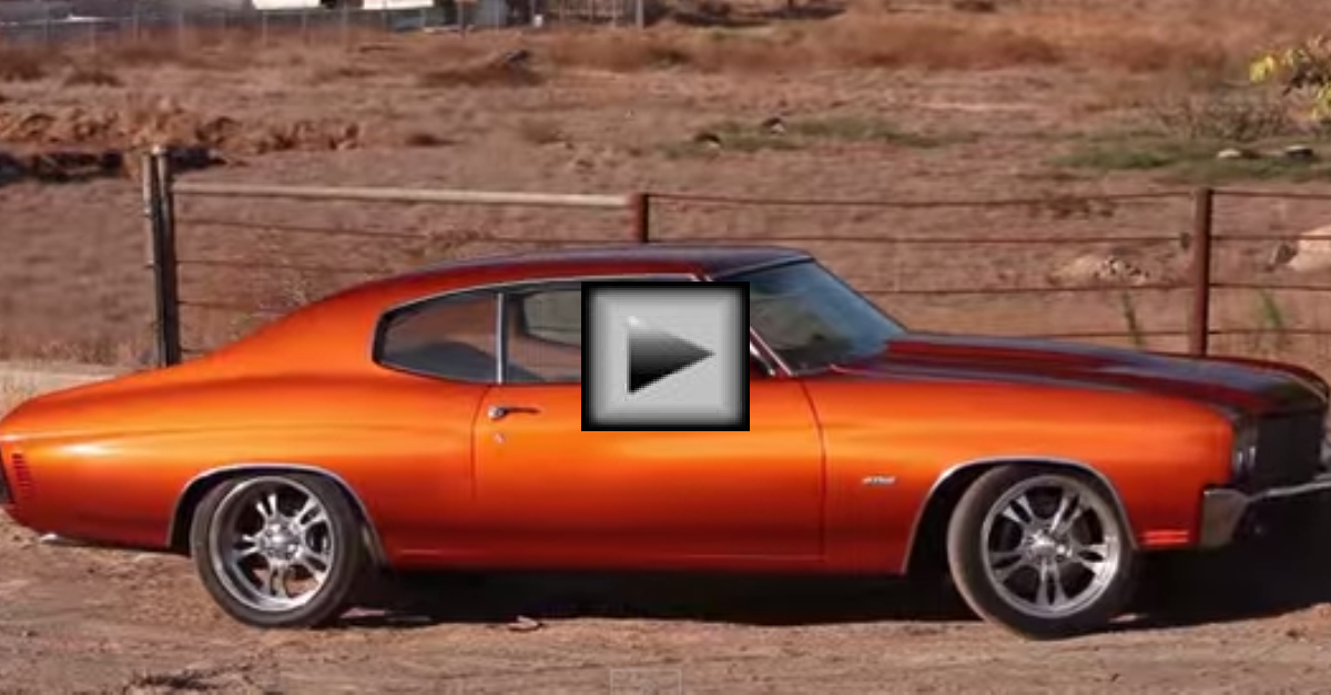 1970 Chevelle Refined american muscle car