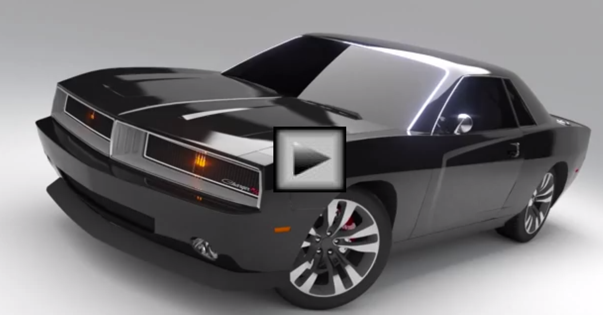 Concept Dodge Charger and Daytona mopar muscle car