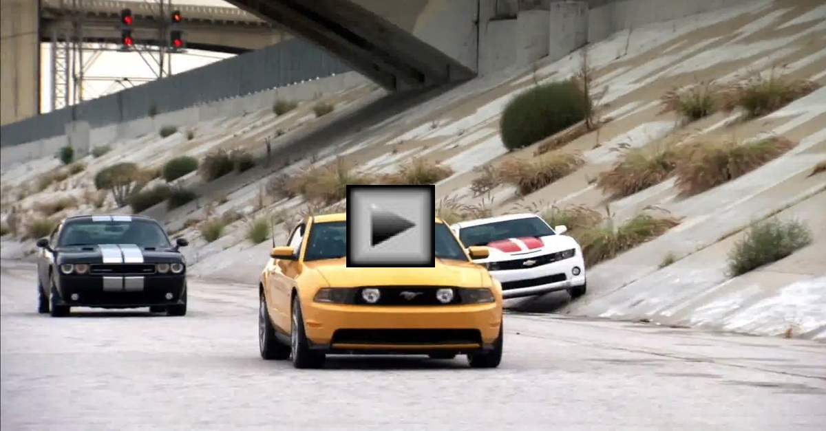 american muscle car drag race