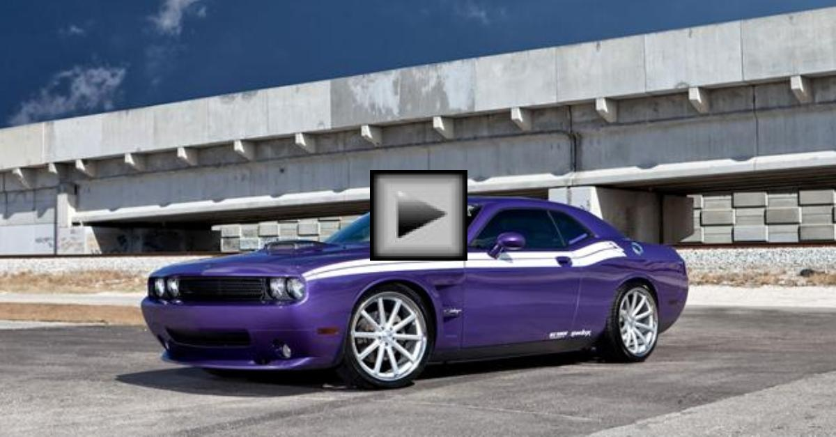 dodge challenger vossen mopar muscle car