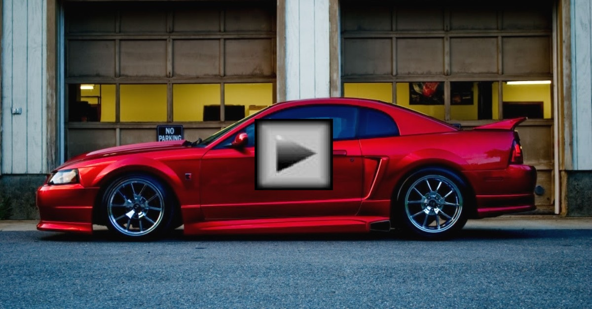 kandy roush ford mustang burnout