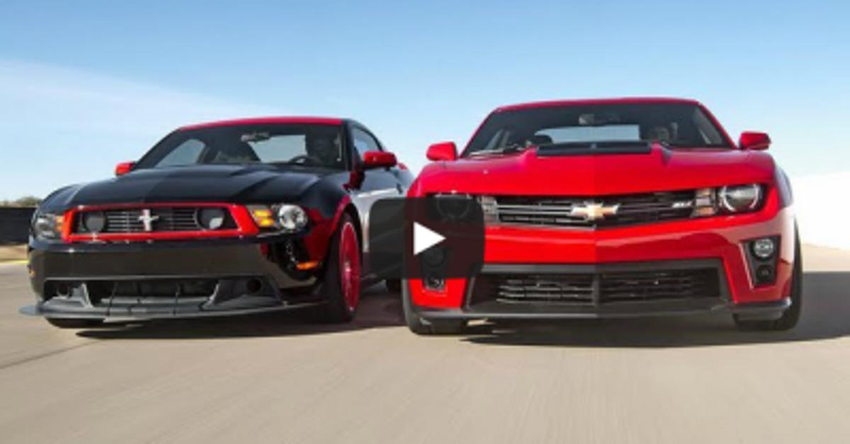 mustang vs camaro american muscle cars
