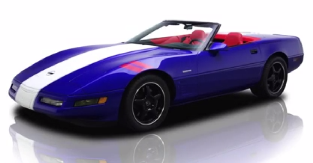 1996 Chevy Corvette Grand Sport Convertible American muscle car