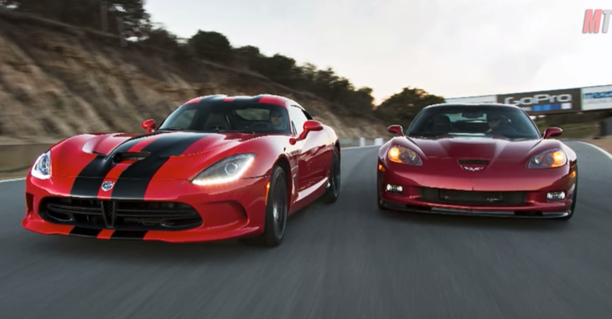 SRT Viper GTS vs Chevrolet Corvette ZR1 Head 2 Head American sports cars