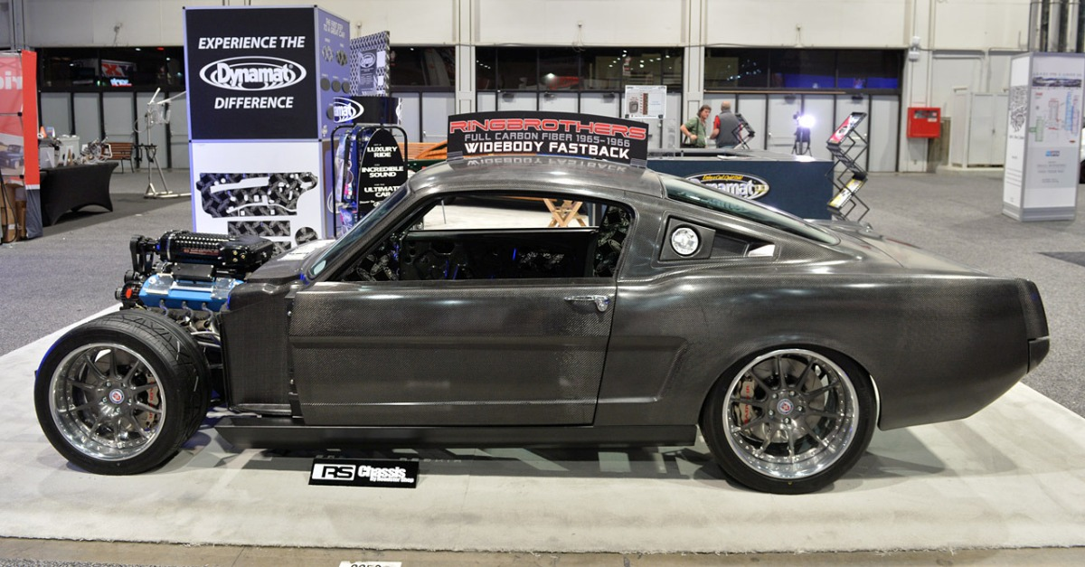 ringbrothers fiber carbon mustang fastback american muscle car