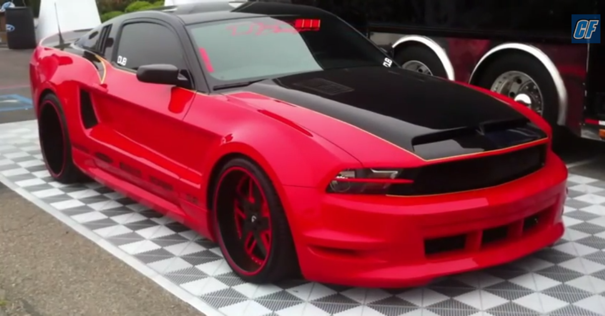 Forgiato wide body ford mustang american muscle car