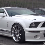 Modified Shelby ford Mustang GT500 test drive american muscle car