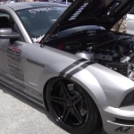 Modified mustang shelby gt500 Reverse Paint carbon fiber fender american muscle car