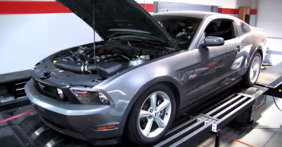 Vortech Supercharged 2011 5.0L ford Mustang GT dyno test american muscle car