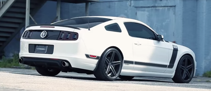 ford mustang boss 302 custom on vossen wheels