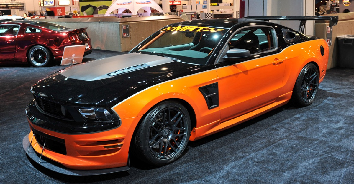 modified MRT performance ford mustang, H&R springs mustang, forgiato mustang