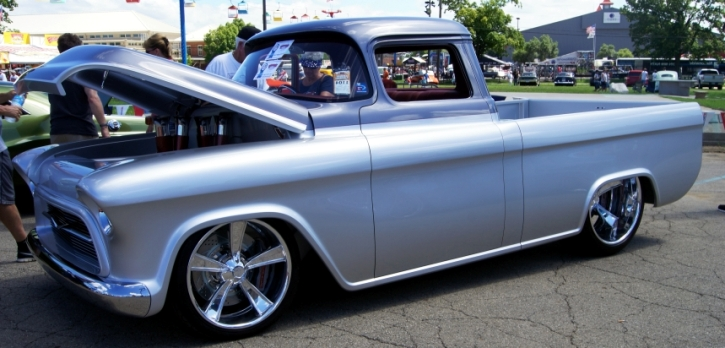 1957 chevy pick up custom quicksilver