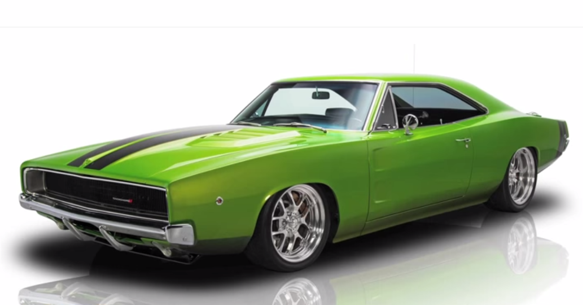1968 Dodge Charger restored mopar muscle car