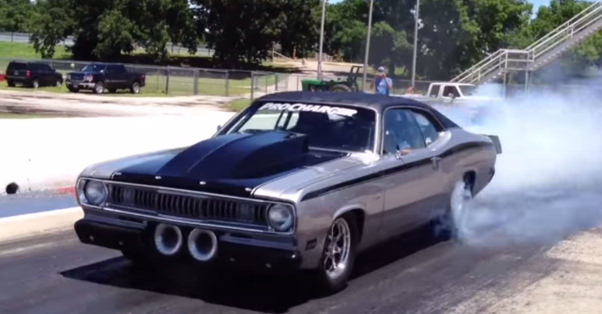 1970 plymouth duster twin supercharged mopar muscle car dragster