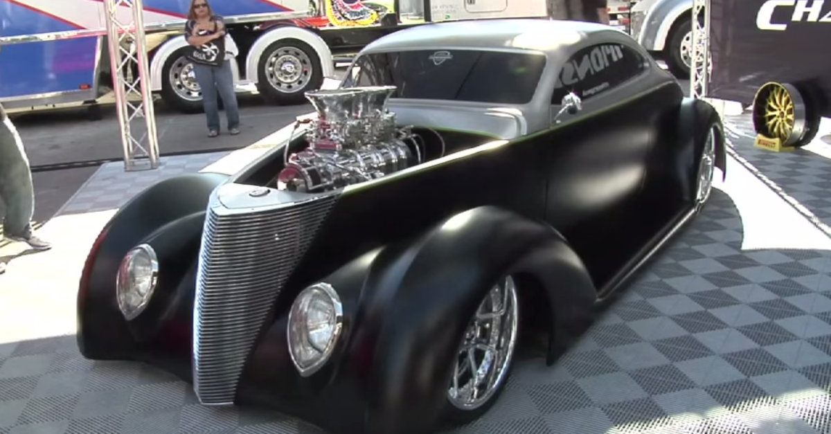 Custom 1937 Ford Five Window Coupe hot rod