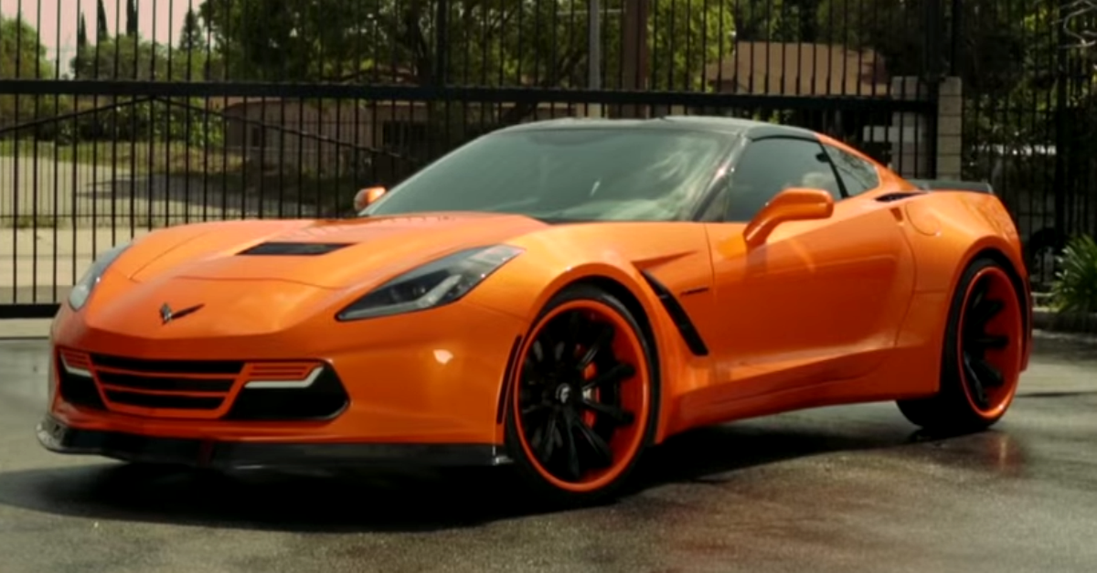 custom chevrolet corvette c7 wide body sports car hot cars