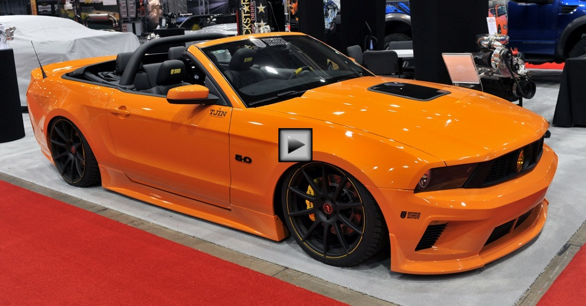 ford mustang convertible custom tjin edition
