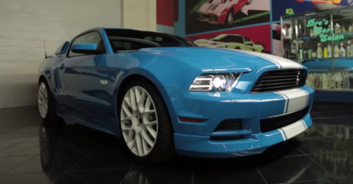 ford mustang custom hot american muscle car