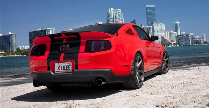 ford mustang gt on vossen wheels