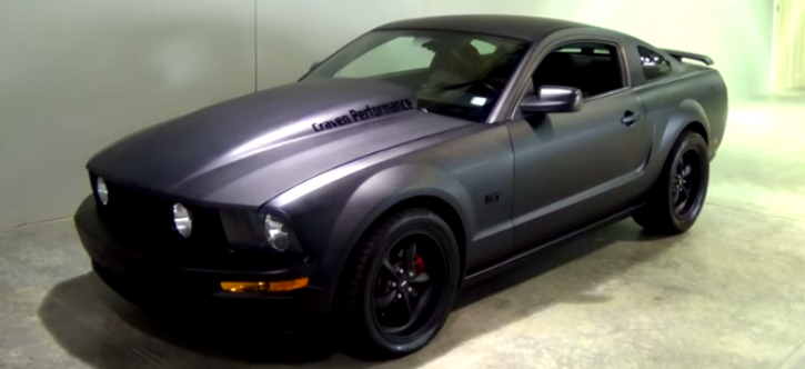 ford mustang black night muscle cars
