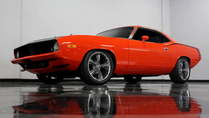 1974 plymouth barracuda restomod