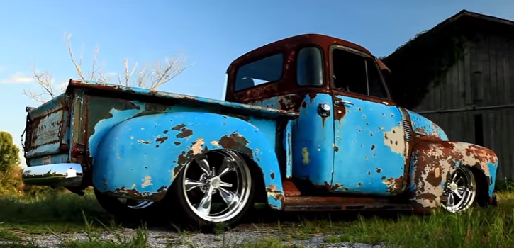 slammed 1951 chevy 3100 patina custom pick up truck