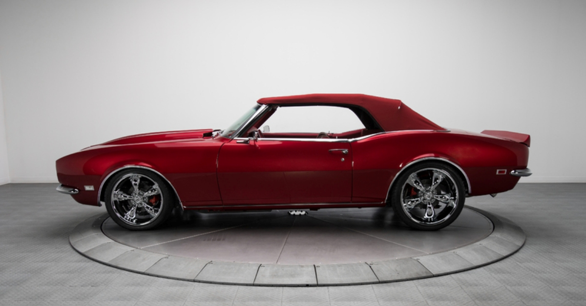 1968 chevy camaro convertible restored muscle car