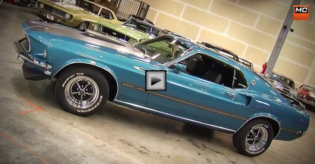 1969 ford mustang mach 1 classic muscle car