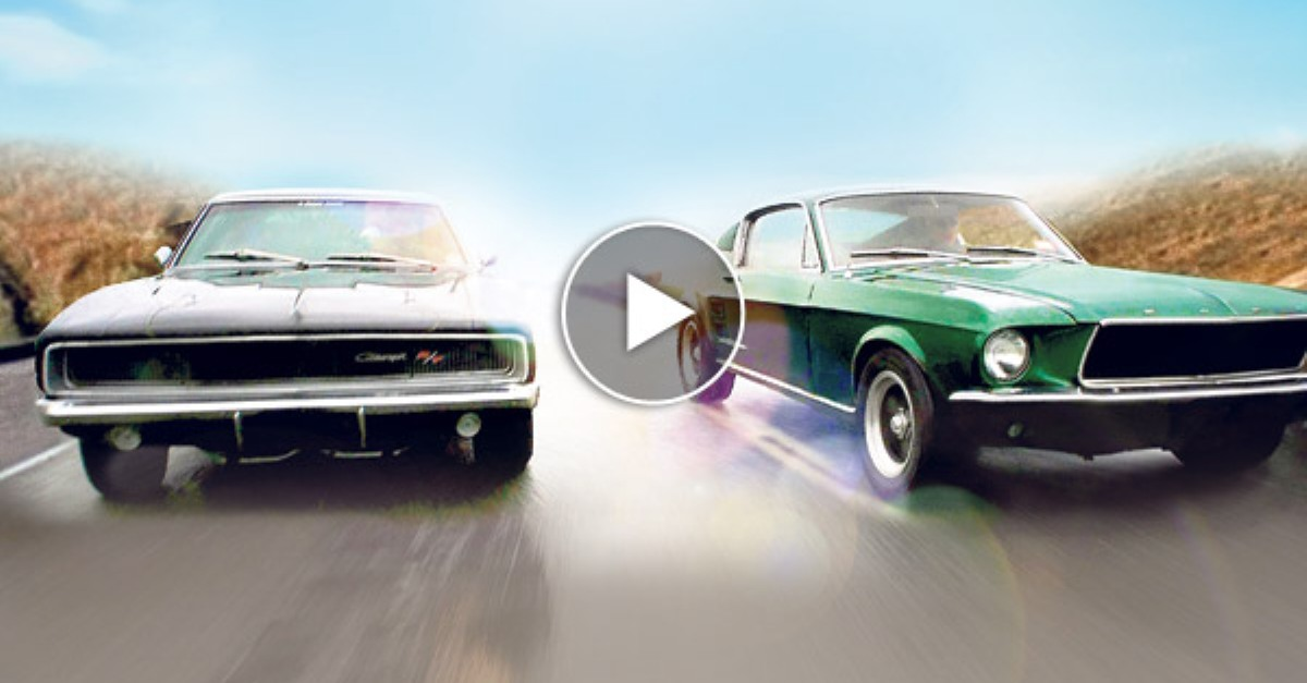bullitt car chase mustang fastback vs dodge charger