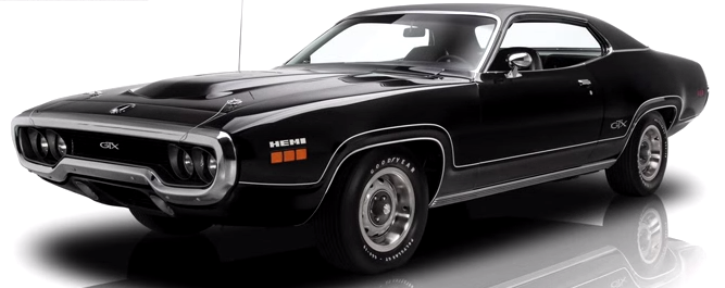 hemi powered 1971 plymouth gtx
