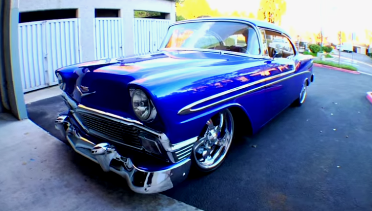 1956 chevy bel air hot rod custom built z06 motor