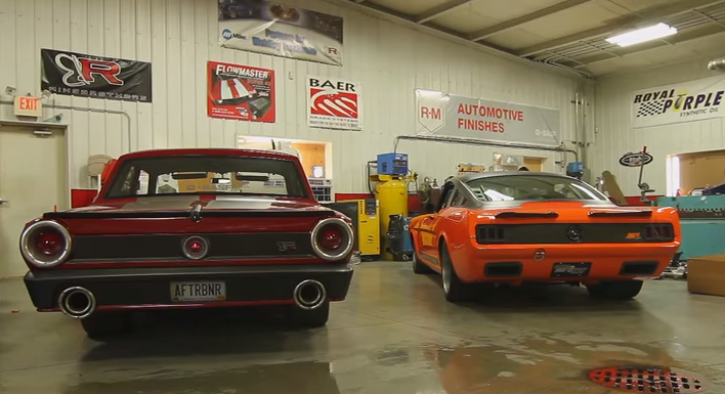 1965 mustang and 1964 fairlane custom built muscle cars by the ring brothers