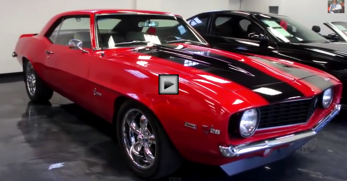 1969 chevy camaro z28 tribute pro touring american muscle car