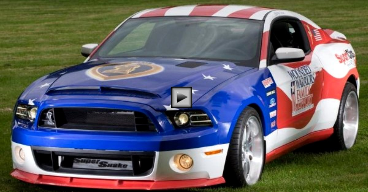 2013 mustang shelby gt500 super snake wounded warriors project