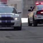 2013 mustang shelby gt500 vs police car chase