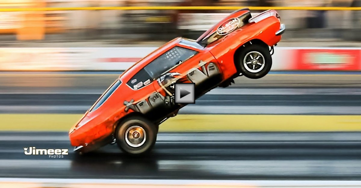 airborne 1968 plymouth cuda drag car cool wheelstand | HOT CARS