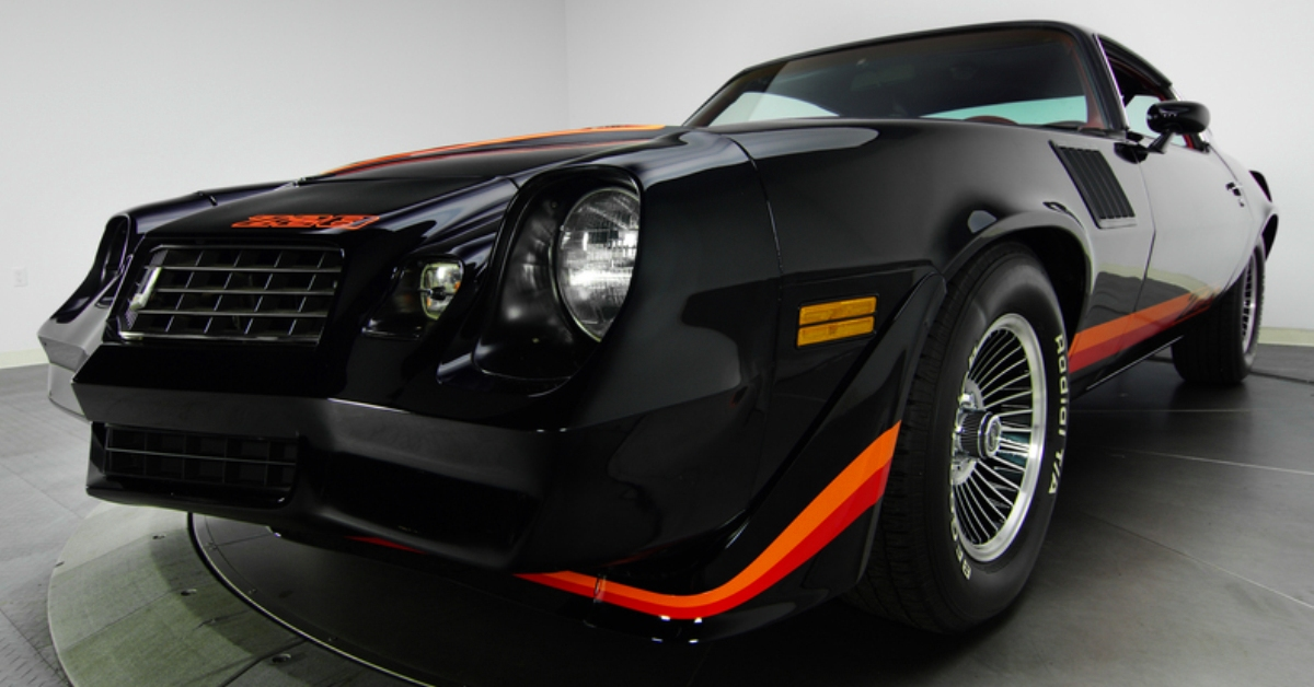 restored 1979 chevy camaro z28 muscle car