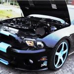 supercharged ford mustang gt500 black mamba burnouts and donuts