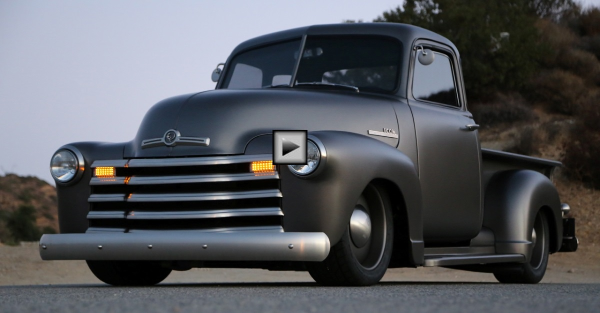 1950 icon chevy thriftmaster pick up truck custom by jonathan ward