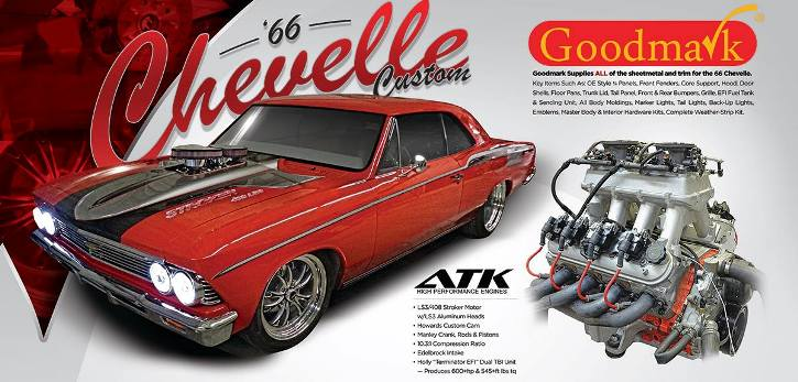 1966 chevy chevelle custom stroker 408 ls3 muscle car