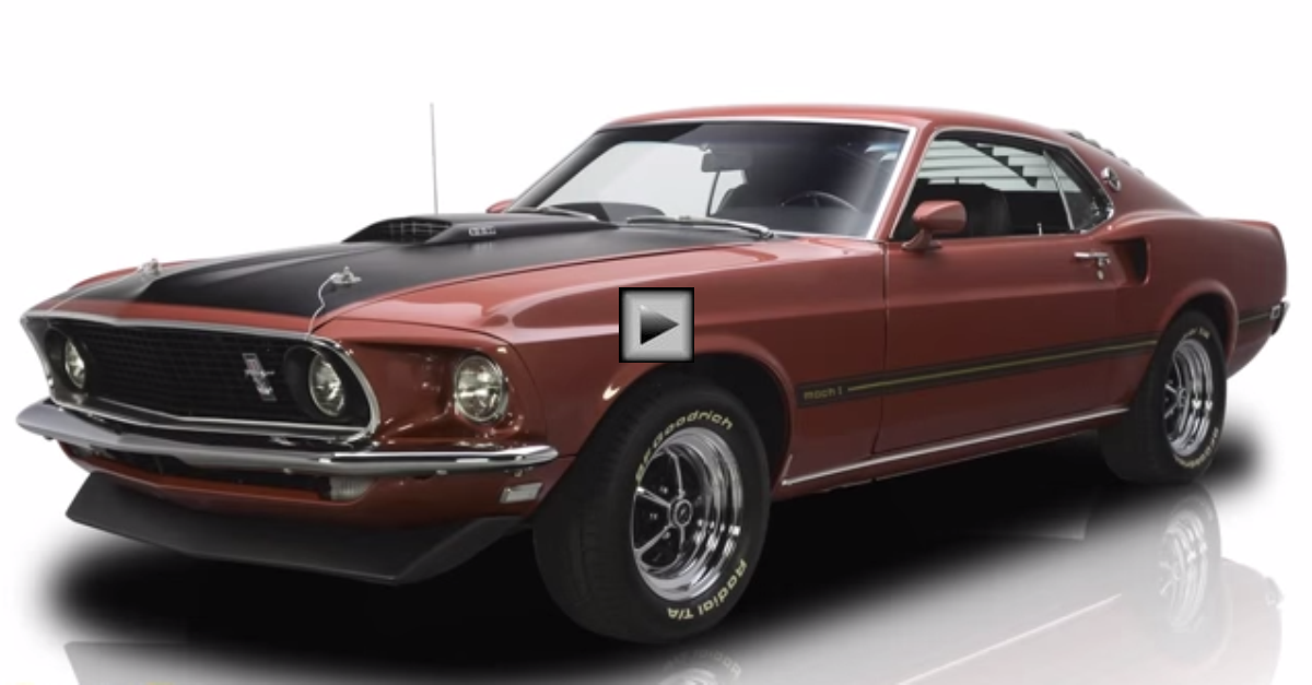 1969 ford mustang mach 1 fastback restored muscle car