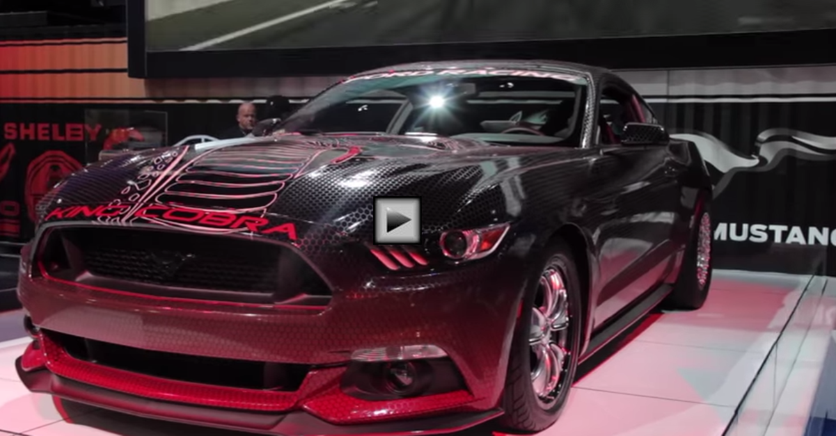 2015 fod mustang gt king cobra drag racing car at sema 2014 | HOT CARS