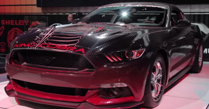 2015 fod mustang gt king cobra drag racing car at sema 2014