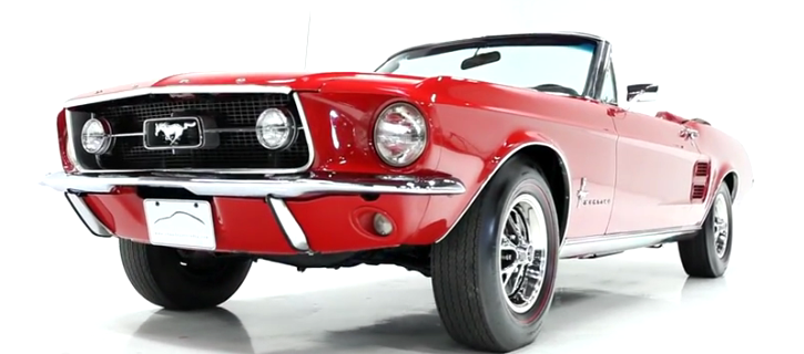 restored 1967 ford mustang convertible