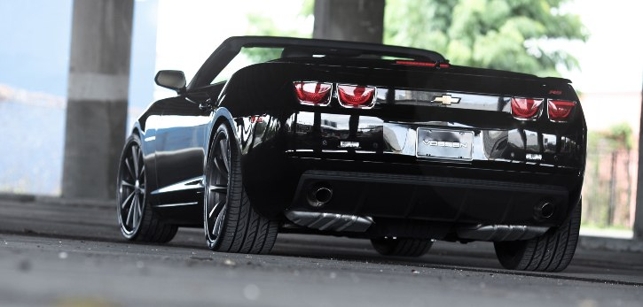chevy camaro convertible on vossens wheels