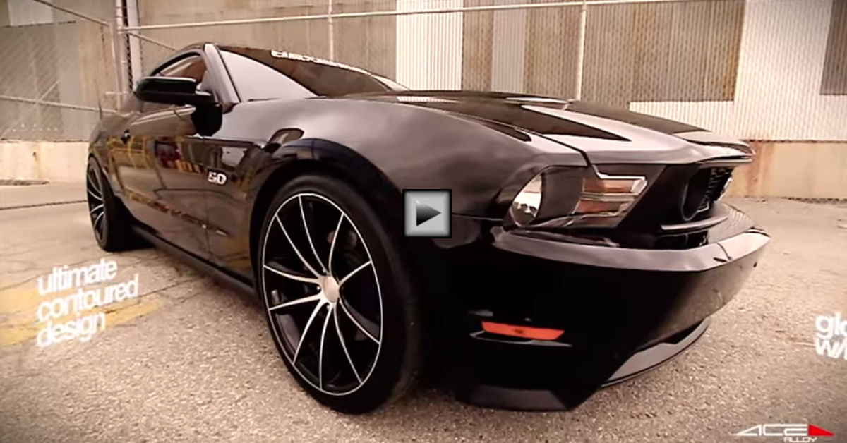 ford mustang gt 5.0 on ace alloy wheels