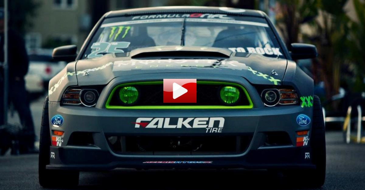 vughn gittin jr drifting the monster ford mustang rtr